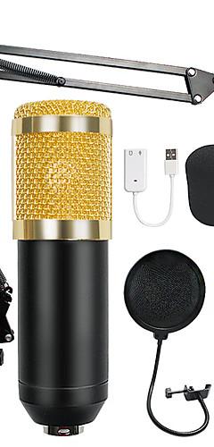 preiswerte -bm-800 kondensator audio 3,5 mm kabelgebundenes studio mikrofon gesangsaufnahme ktv karaoke mikrofon set mic w / ständer für computer