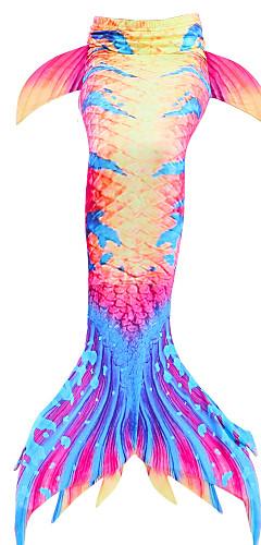 levne -The Little Mermaid Malá mořská víla Plavky Děti Dívčí Nový rok Festival / Svátek Polyester červená / bílá / Fialová Modrá / Žlutá Karnevalové kostýmy Mořská panna / Mermaid Fishtail