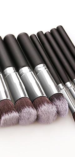 billige -Profesjonell Makeup børster 10pcs Myk Full Dekning Smuk comfy Tre / Bambus til Sminkesett Sminkeredskap Sminkebørster Rougebørste Foundationbørste Sminkebørste Øyenskyggebørste