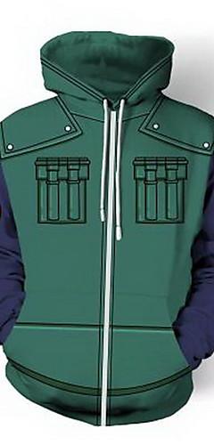 cheap -Inspired by Naruto Hatake Kakashi Naruto Uzumaki Cosplay Coat Terylene Print Hoodie For Men's / Women's