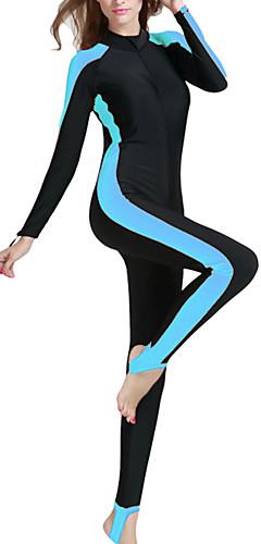 رخيصةأون -SBART نسائي بدلات الغطس العميق سباندكس سترات للغوص SPF50 حماية من الأشعة فوق البنفسجية سريع جاف كم طويل الأمامية زيبر - سباحة غوص تزلج على الماء بقع / كامل الجسم