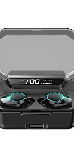 preiswerte -kumi t3s tws wahre drahtlose kopfhörer ohrhörer bluetooth 5,0 stereo led display auto pairing ipx6 wasserdicht 3300 mah lade fall smart touch 6d surround bass