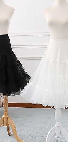 povoljno -Balet Classic Lolita 1950-te Haljine Petticoat kratka baletska suknja Krinolina Žene Djevojčice Til Kostim Crn / Siva / Obala Vintage Cosplay Party Seksi blagdanski kostimi Princeza
