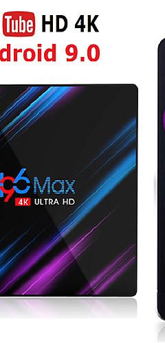 preiswerte -h96 max rk3318 smart tv box android 9.0 4 gb ram 32 gb 64 gb 4 k wifi media player google sprachassistent netflix youtube hdr bt4.0 usb 3.0 airplay goole spielen set top box 2 gb 16 gb h96max