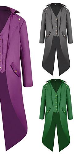 abordables -Docteur de la peste Rétro Vintage Gothique Epoque Médiévale Steampunk 18ème siècle Smoking Tailcoat Redingote Homme Coton Costume Noir / Rouge noir / Blanche Vintage Cosplay Manches Longues / Manteau