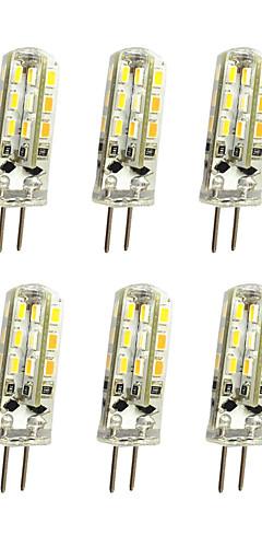 preiswerte -Jiawen 10 stücke 1 watt 120lm g4 led bi-pin lichter maisbirne 24led smd 3014 dekorative kronleuchter lampe warmweiß / kaltweiß dc 12 v