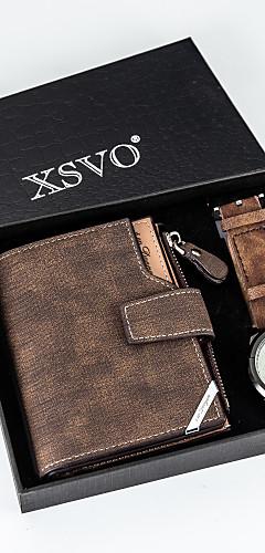 ราคาถูก -สำหรับผู้ชาย นาฬิกาแนวสปอร์ต นาฬิกาอิเล็กทรอนิกส์ (Quartz) PU Leather น้ำตาล 50 m กันน้ำ โครโนกราฟ Creative ระบบอนาล็อก มาใหม่ แฟชั่น - สีน้ำตาล สองปี อายุการใช้งานแบตเตอรี่