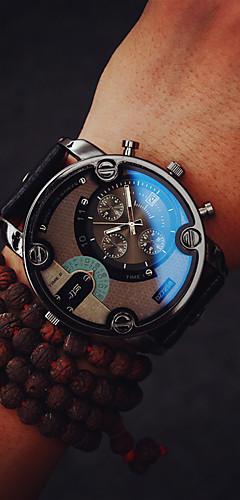 ราคาถูก -สำหรับผู้ชาย นาฬิกาแนวสปอร์ต ญี่ปุ่น นาฬิกาอิเล็กทรอนิกส์ (Quartz) PU Leather ดำ / น้ำตาล กันน้ำ โครโนกราฟ ดีไซน์มาใหม่ ระบบอนาล็อก ภายนอก มาใหม่ - สีดำ สีดำ / สีน้ำตาล สองปี อายุการใช้งานแบตเตอรี่