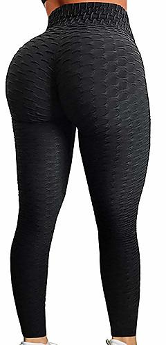 ราคาถูก -สำหรับผู้หญิง เอวสูง กางเกงโยคะ ลายพิมพ์ Ruched Butt Lifting แฟชั่น สีดำ เทาอ่อน ขาว น้ำเงินท้องฟ้า สีม่วง สแปนเด็กซ์ วิ่ง การออกกำลังกาย ยิมออกกำลังกาย ถุงน่องการขี่จักรยาน เลกกิ้ง กีฬา ชุดทำงาน
