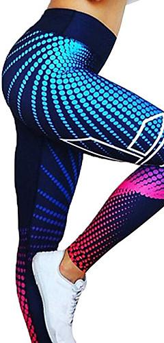 ราคาถูก -สำหรับผู้หญิง เอวสูง กางเกงโยคะ 3D Digital Print สีดำ สีเทาเข้ม สีดำ+สีเงิน แดง / ขาว ทอง สแปนเด็กซ์ วิ่ง การออกกำลังกาย ยิมออกกำลังกาย ถุงน่องการขี่จักรยาน เลกกิ้ง กีฬา ชุดทำงาน แห้งเร็ว Butt Lift