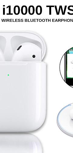 preiswerte -original i10000 tws drahtlose ohrhörer bluetooth 5.0 kopfhörer touch control tragbare sport headset drahtlose qi ladung inear check automatische ohrerkennung spielen und pause pop-up fenster mit ios