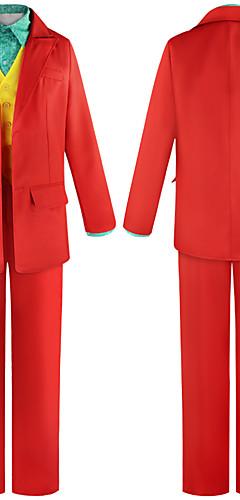 hesapli -Burlesque / Palyaço Cosplay Kostümleri Kıyafetler Erkek Kadın's Film Kostümleri Cadılar Bayramı Gökküşağı Palto Yelek Gömlek Cadılar Bayramı Karnaval Polyester / Pantalonlar