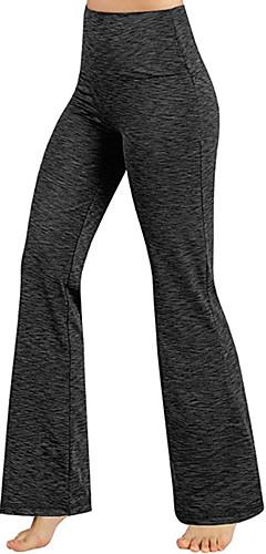 ราคาถูก -สำหรับผู้หญิง เอวสูง กางเกงโยคะ BootLeg สีดำ สีเทาเข้ม สีน้ำตาลอ่อน ขาว น้ำเงินท้องฟ้า ฝ้าย วิ่ง การออกกำลังกาย ยิมออกกำลังกาย กีฬา ชุดทำงาน Butt Lift Tummy Control Power Flex ยืดแบบ 4 Way / ฤดูหนาว