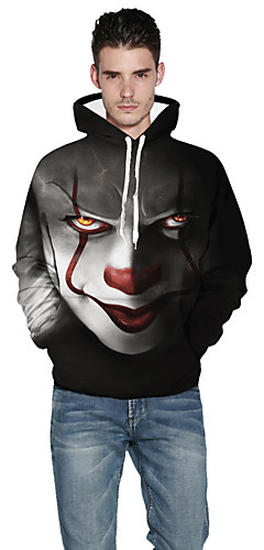 cheap -Inspired by Burlesque Clown Pennywise Hoodie Polyster Hoodie For Men's