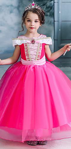 economico -Fiabe Costumi da Babbo Natale Da principessa Vestiti Da ragazza Cosplay da film Halloween Natale Fuschia Natale Halloween