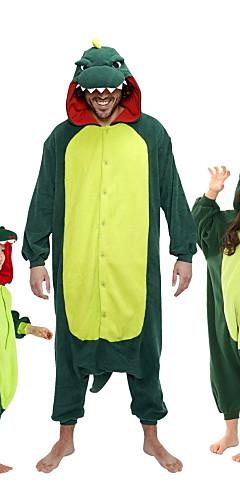 رخيصةأون -للأطفال بيجاما كيجورومي ديناصور حيوانات بيجاما ونزي فلانل الصوف أخضر / أحمر تأثيري إلى الأولاد والبنات ملابس للنوم الحيوانات رسوم متحركة عطلة / عيد ازياء