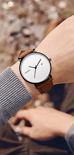 ราคาถูก -สำหรับผู้ชาย นาฬิกาแนวสปอร์ต นาฬิกาอิเล็กทรอนิกส์ (Quartz) กีฬา สไตล์ หนัง ดำ / น้ำตาล 30 m ปฏิทิน Creative เรืองแสง ระบบอนาล็อก ไม่เป็นทางการ ที่เรียบง่าย - สีดำ สีน้ำตาล ดำ / น้ำเงิน / สองปี