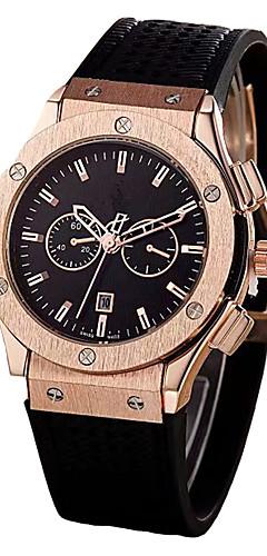 ราคาถูก -สำหรับผู้ชาย นาฬิกาข้อมือ สายการบิน ญี่ปุ่น นาฬิกาอิเล็กทรอนิกส์ (Quartz) หนัง ดำ / ชอคโกแลต ปฏิทิน โครโนกราฟ ปุ่มหมุนขนาดใหญ่ ระบบอนาล็อก กำไล ที่เรียบง่าย - สีดำ สีน้ำตาล ฟ้า / สองปี / สองปี