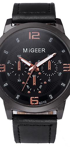 ราคาถูก -สำหรับผู้ชาย นาฬิกาแนวสปอร์ต นาฬิกาอิเล็กทรอนิกส์ (Quartz) หนัง ดำ / ชอคโกแลต ไม่ โครโนกราฟ Creative ดีไซน์มาใหม่ ระบบอนาล็อก มาใหม่ แฟชั่น - สีดำ สีทอง+สีดำ Rose Gold หนึ่งปี อายุการใช้งานแบตเตอรี่