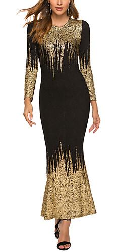 ราคาถูก -สำหรับผู้หญิง ขนาดพิเศษ พื้นฐาน 1920s เพรียวบาง Flapper แต่งตัว Abstract ขนาดใหญ่ Gatsby