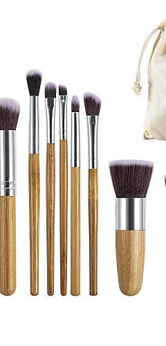 billige -Profesjonell Makeup børster 11 deler Økovennlig Profesjonell Myk Full Dekning comfy Tre / Bambus til Sminkesett Sminkeredskap Sminkebørster Rougebørste Foundationbørste Sminkebørste Øyenbrynbørste