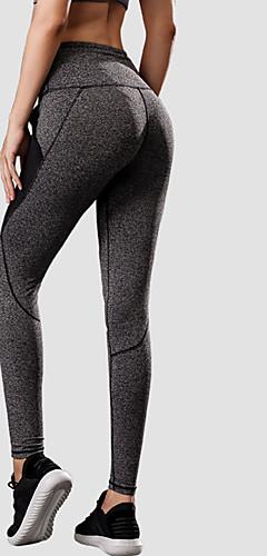 ราคาถูก -YUERLIAN สำหรับผู้หญิง เอวสูง กางเกงโยคะ ลายต่อ กระเป๋า สีดำ สีเทาเข้ม สีแดงเบอร์กันดี สีบานเย็น สีเทา ตารางไขว้ Elastane วิ่ง การออกกำลังกาย ยิมออกกำลังกาย ถุงน่องการขี่จักรยาน เลกกิ้ง กีฬา ชุดทำงาน