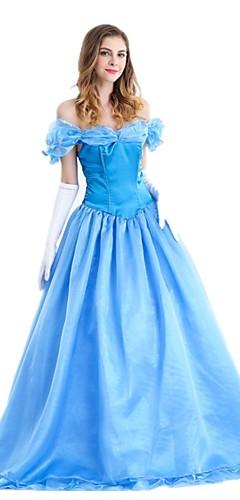 povoljno -Princeza Cinderella Haljine Žene Filmski Cosplay Plava Suknja Haljina Rukavice Šifon Terilen / Petticoat / Petticoat