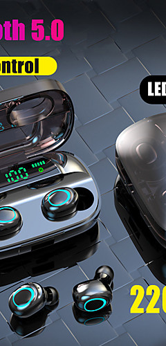 preiswerte -litbest s11 tws wahre drahtlose ohrhörer bluetooth 5.0 kopfhörer 2200 mah bewegliche energie für smartphone led batterieanzeige touch control ipx5 wasserdicht sport fitness kopfhörer