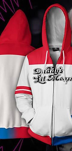 cheap -Inspired by Cosplay Harley Quinn Cosplay Costume Hoodie Polyster Print Printing Hoodie For Men's / Women's