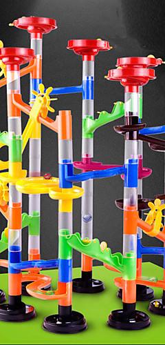 رخيصةأون -105 pcs رخام تشغيل سباق البناء الرخام المسار مجموعات مسارات البلي ABS لعبة STEAM إبداعي حداثة اصنع بنفسك التفاعل بين الوالدين والطفل كهدية للأطفال تربوي للأطفال الأطفال للصبيان للفتيات ألعاب الهدايا