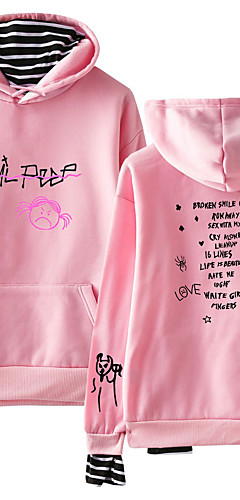 cheap -Inspired by Cosplay Lil peep Cosplay Costume Hoodie Cotton Fibre Print Printing Hoodie For Men's / Women's