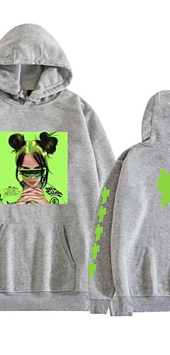 cheap -Inspired by Cosplay Billie Eilish Cosplay Costume Hoodie Pure Cotton Print Hoodie For Men's / Women's