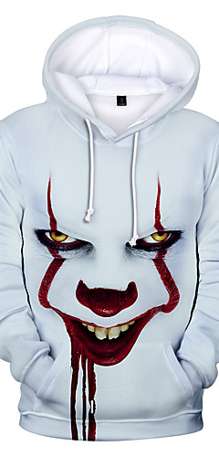 cheap -Inspired by Joker Pennywise Cosplay Costume Hoodie Polyster Print Hoodie For Men's / Women's