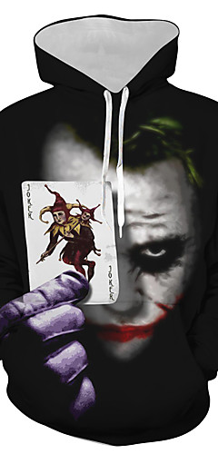 cheap -Inspired by Joker Joker Cosplay Costume Hoodie Polyster Print Printing T-shirt For Men's / Women's