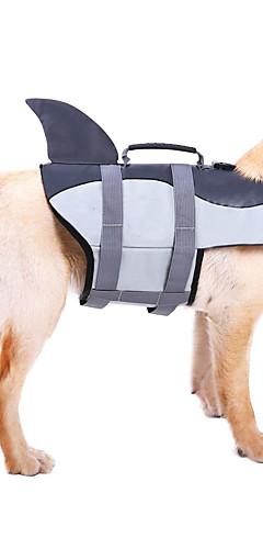 رخيصةأون -كلاب سترة نجاة ملابس الكلاب سباحة أصفر وردي رمادي كوستيوم كلب صغير كلب متوسط كلب كبير تيريليني مادة مضادة للماء لون سادة حيوان أسلوب بسيط حيوانات S M L