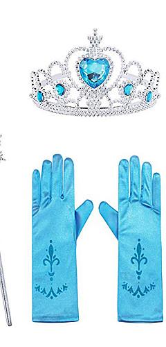 povoljno -Princeza Elsa Rukavice Izgledi Pribor za nakit princeze Cosplay Djevojčice Filmski Cosplay Halloween purpurna boja / Bijela / Fuschia Rukavice Kruna Wand Dječji dan Maškare Umjetno drago kamenje