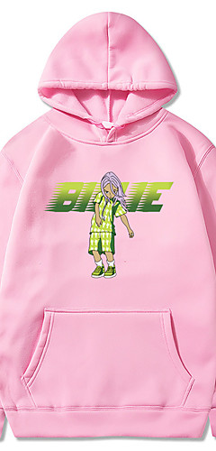 cheap -Inspired by Cosplay Billie Eilish Cosplay Costume Hoodie Pure Cotton Print Printing Fancy Hoodie For Men's / Women's