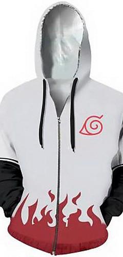 cheap -Inspired by Naruto Cosplay Coat Terylene Print For Men's / Women's