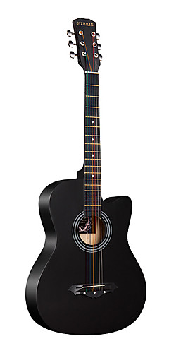 cheap -Guitar Wooden Professional Tools 38 Inch Black Acoustic Professional Musical Instrument for Beginners and Youths Students
