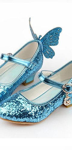 povoljno -Cinderella Princeza Elsa Cipele Djevojčice Filmski Cosplay Šljokice Obala / Pink / Plava Cipele Dječji dan Synthetic leather