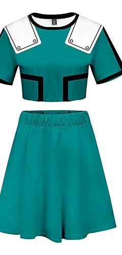 cheap -Inspired by My Hero Academia Boko No Hero Bakugou Katsuki Skirt Cosplay Costume Polyster Print Printing Skirts For Women's / T-shirt