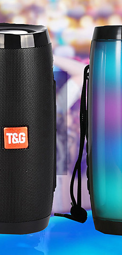 cheap -Portable Speakers Bluetooth Column Wireless Bluetooth Speaker Powerful High BoomBox Outdoor Bass HIFI TF FM Radio with LED Light