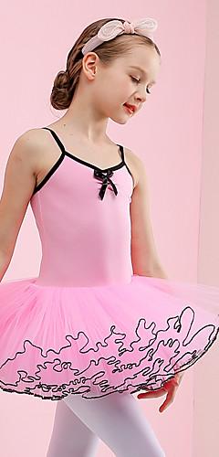 povoljno -Labuđe jezero Balet Haljine kratka baletska suknja Djevojčice Filmski Cosplay Pink Haljina Pamuk