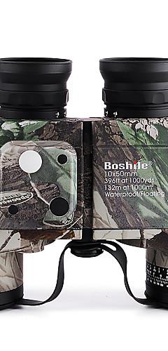 رخيصةأون -Boshile 10 X 50 mm مناظير العدسات ضد الماء ليلة الرؤية في ضوء منخفض قابل للتعديل Fogproof 132/1000 m تغطية متعددة كاملة BAK4 الصيد صيد السمك التسلق المطاط الطبيعي / الطيور تراقب