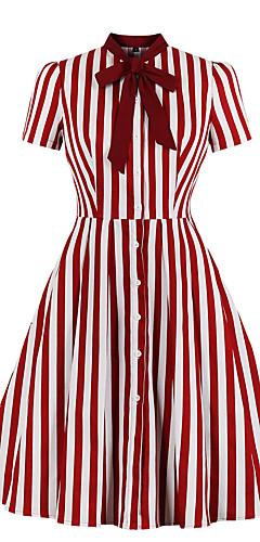 povoljno -Audrey Hepburn Vintage Haljine Žene Spandex Kostim Lila-roza / LightBlue Vintage Cosplay A-kroj