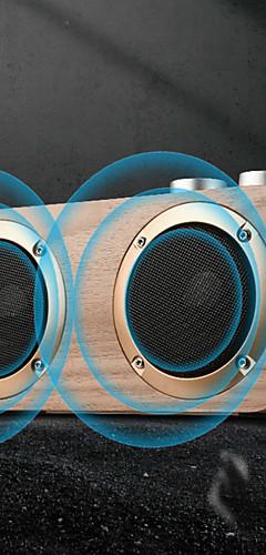 cheap -Q7 Bluetooth Soundbar with 2 Speakers 16W Stereo Hifi Subwoofers Wood Wireless Loudspeaker Knob Button AUX USB TF MP3 Player