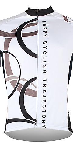 رخيصةأون -ILPALADINO رجالي كم قصير جورسيه الدراجة بوليستر أبيض أصفر أحمر الدراجة جورسيه قمم دراجة جبلية دراجة الطريق متنفس سريع جاف الأشعة فوق البنفسجية مقاوم رياضات ملابس / الجيب الخلفي / يلف العرق