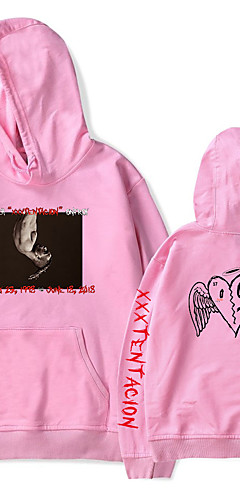 cheap -Inspired by Cosplay xxxtentacion Cosplay Costume Hoodie Polyster Print Printing Hoodie For Men's / Women's