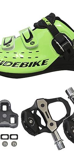 رخيصةأون -SIDEBIKE للبالغين أحذية لركوب الدرجات مزودة ببدال وماسك Road Bike Shoes نايلون متنفس توسيد ركوب الدراجة أسود أحمر أخضر رجالي أحذية الدراجة / شبكة قابلة للتنفس / هوك وحلقة