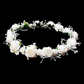 levne Doplňky pro květinové družičky-přilby svatební květin věnec s krásnými květinami
